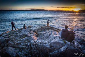 Landschaftsaufnahme in Tofino, BC, Kanada am Pazifik