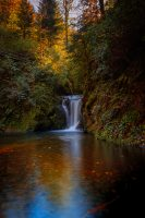 Landschaftsfotografie: Geroldsauer Wasserfälle im Herbst